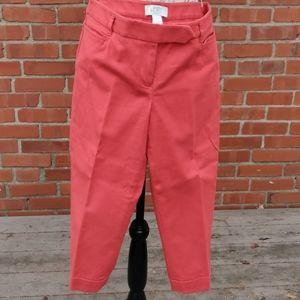 Ann Taylor Loft 4petite Marisa Cut Cropped pants